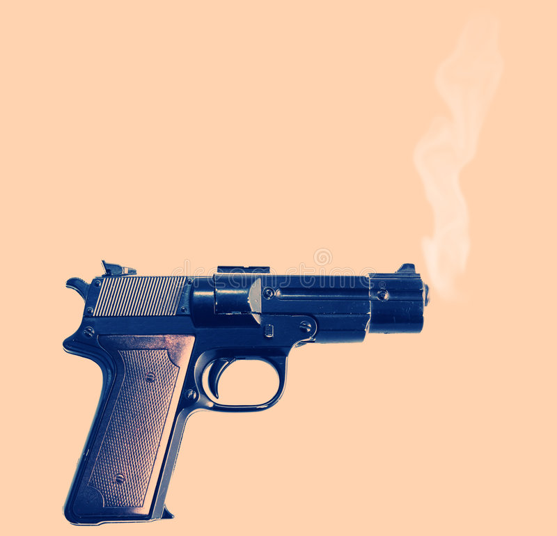 Free Smoking Gun Stock Image - 2966341