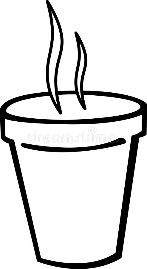 smoking hot coffee in styrofoam cup vector stock illustration