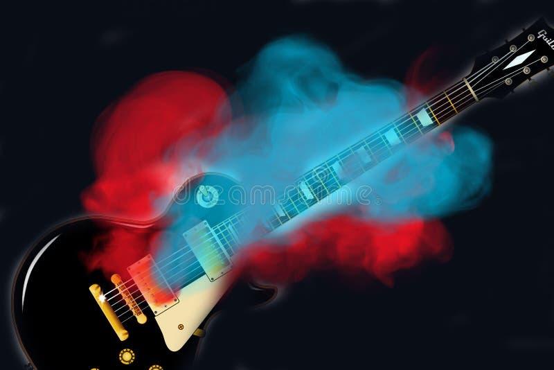 Smoking Hot Guitar vector illustration