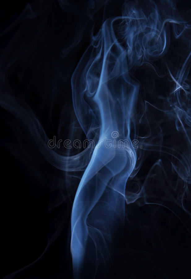 Smoking Image Of Beautiful Lady Made Of Fume Royalty Free Stock Image
