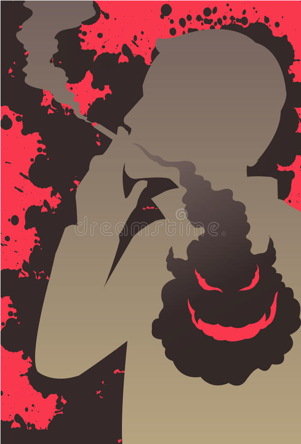 Download Smoking Is Injurious To Health Stock Illustration - Image: 13271161
