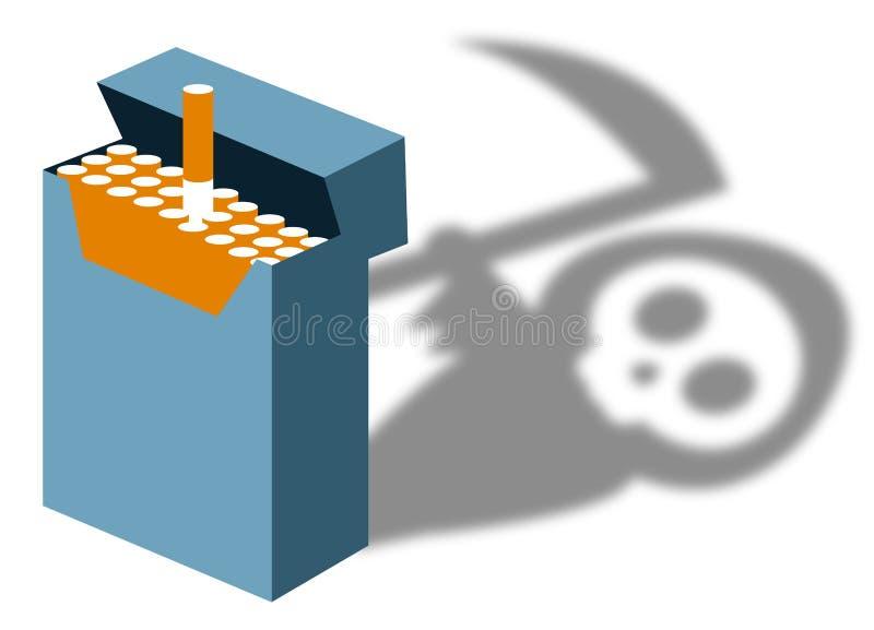 Smoking kills. Warning for the dangers of smoking stock illustration