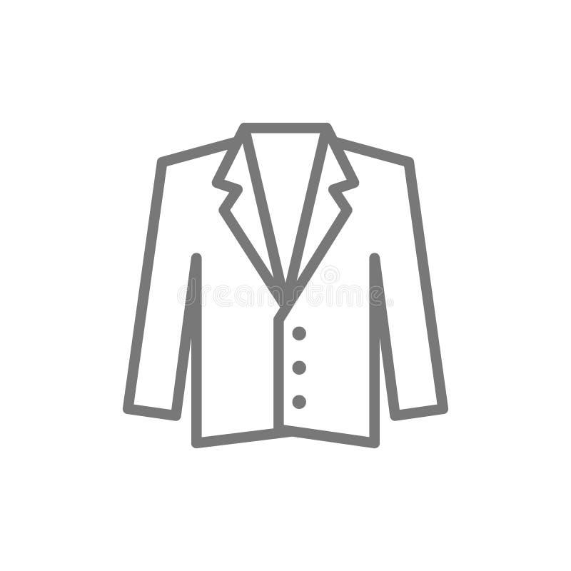 Smoking, kurtka, żakiet kreskowa ikona ilustracji