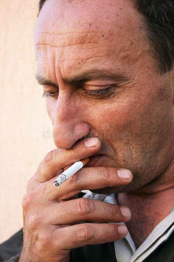 Download Smoking man stock image. Image of extremely, feeling - 12135571