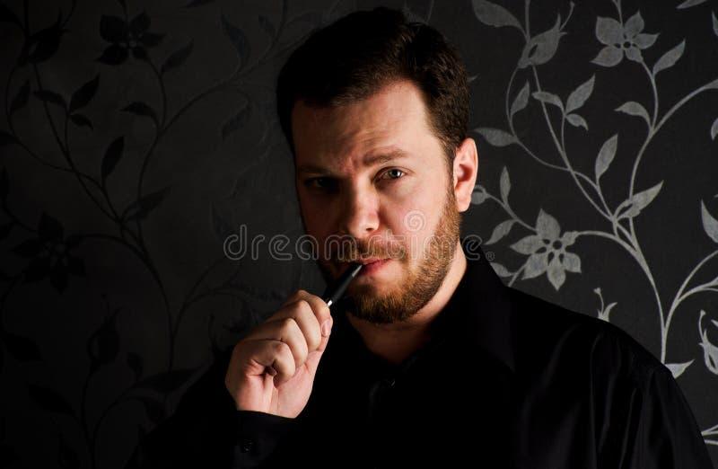 Download Smoking man stock image. Image of black, serious, friends - 23790359