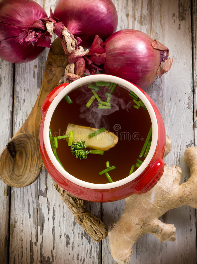 Download Smoking Miso Soup With Ginger Stock Photo - Image: 24329478