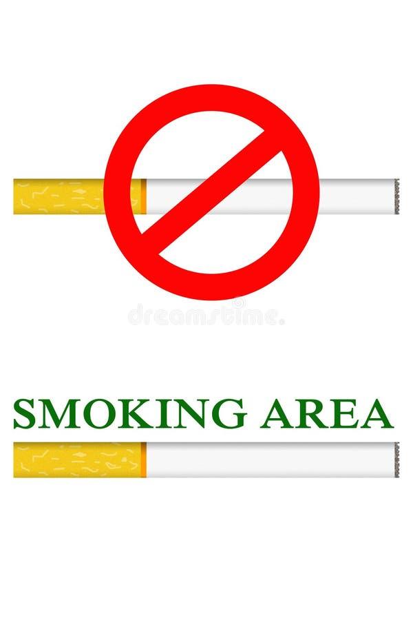 Smoking and No smoking area royalty free stock image