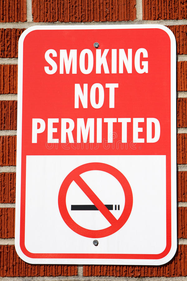 Download Smoking Not Permitted Sign stock image. Image of brick - 21166255