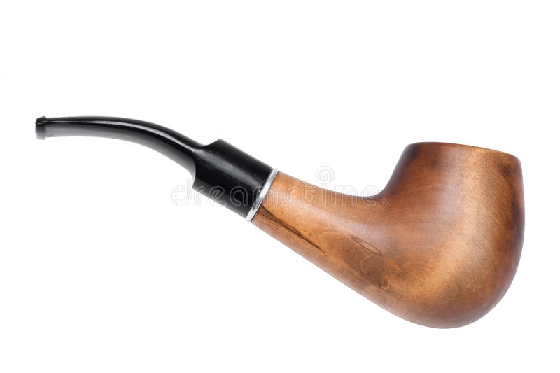 Smoking pipe. Isolated on the white background stock photos