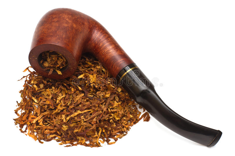 Smoking pipe with tobacco royalty free stock photo