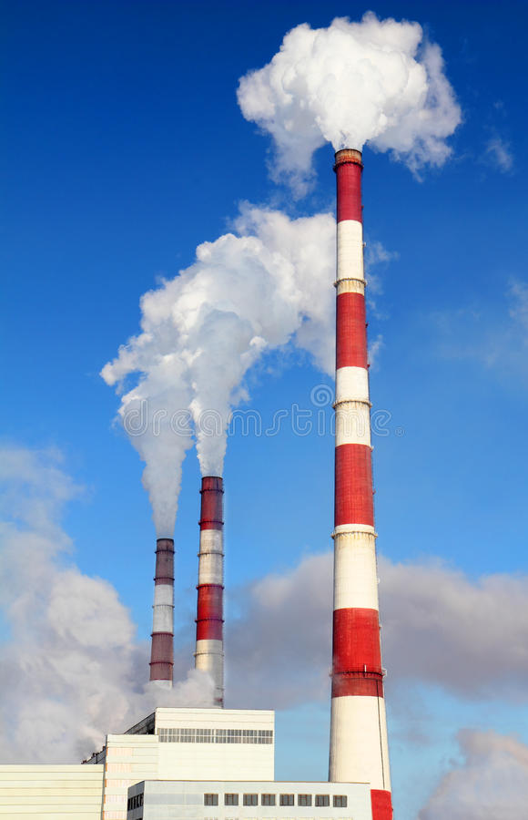 Free Smoking Pipes Of Thermal Power Station Royalty Free Stock Image - 29281026