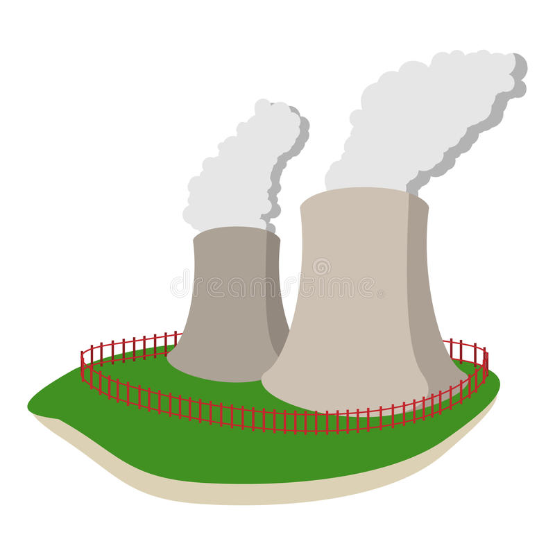 Smoking pipes of thermal power plant royalty free illustration