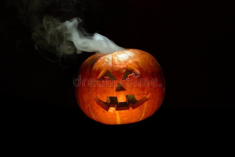Smoking pumpkin