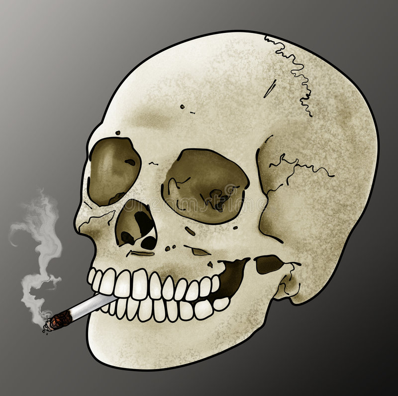 Download Smoking Skull stock illustration. Image of design, drugs - 6192715