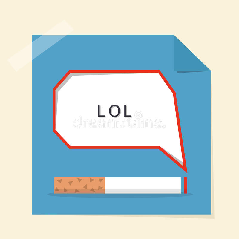 Download Smoking And Speech Bubble Design Poster Stock Vector - Image: 31838290