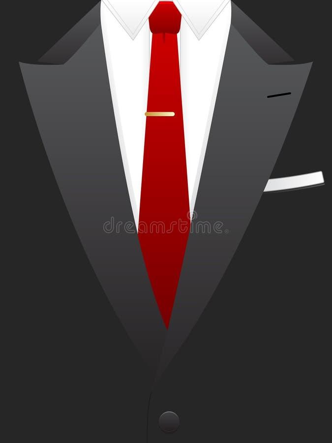 Smoking vermelho do laço ilustração royalty free
