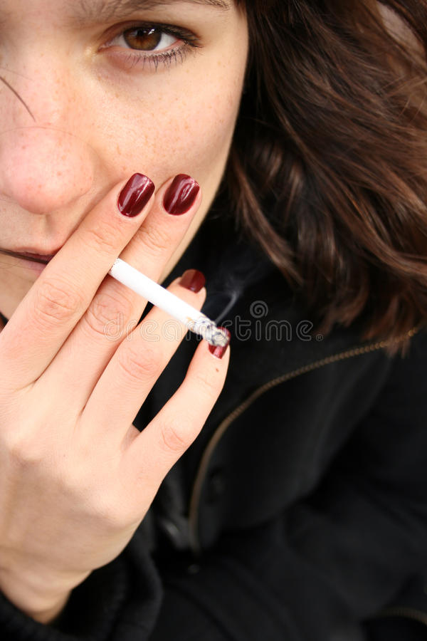 Download Smoking woman stock image. Image of relaxation, cancer - 27050105