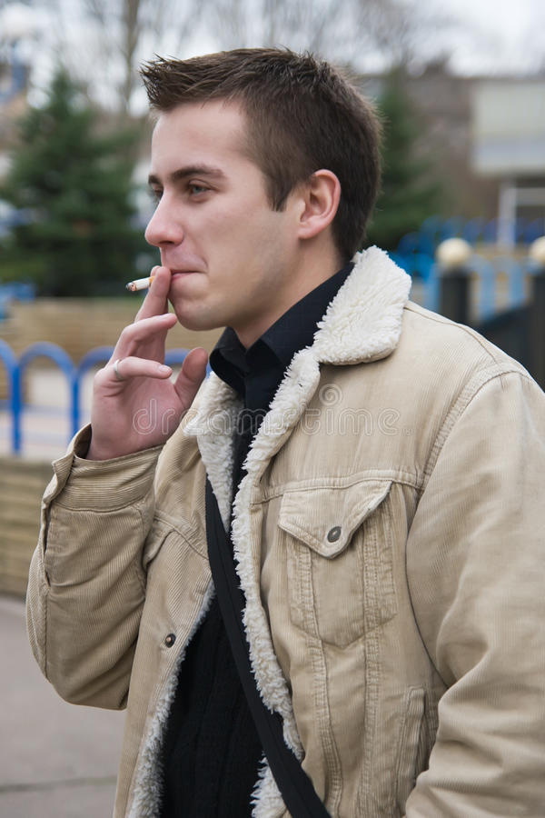 Smoking Young Guy Stock Photo Image Of Smoker Smile 11993102