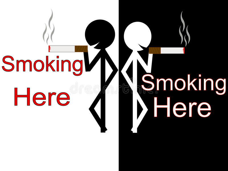SmokingHere royalty free stock photography