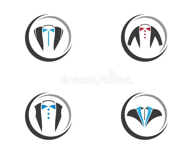 Smokinglogomall vektor illustrationer