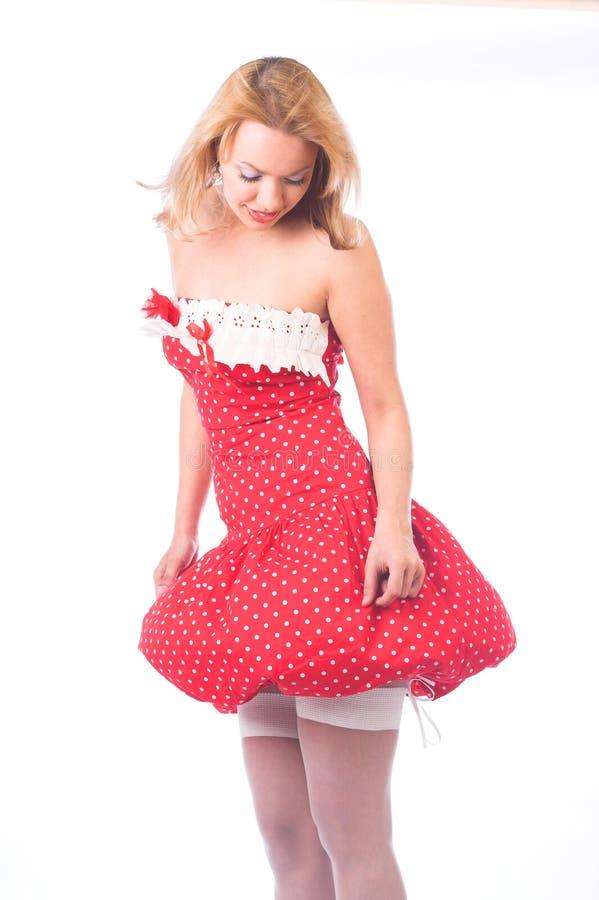 smokingowa blondyn czerwień zdjęcia stock