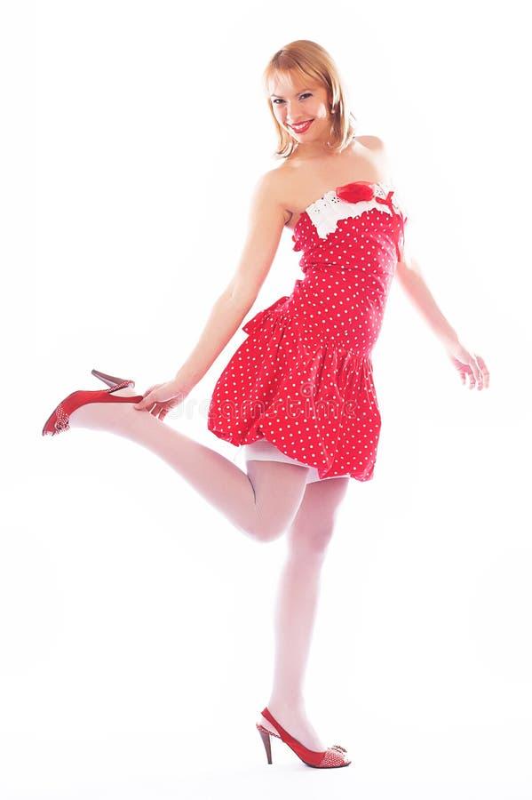 smokingowa blondyn czerwień pojedynczy białe tło obrazy royalty free
