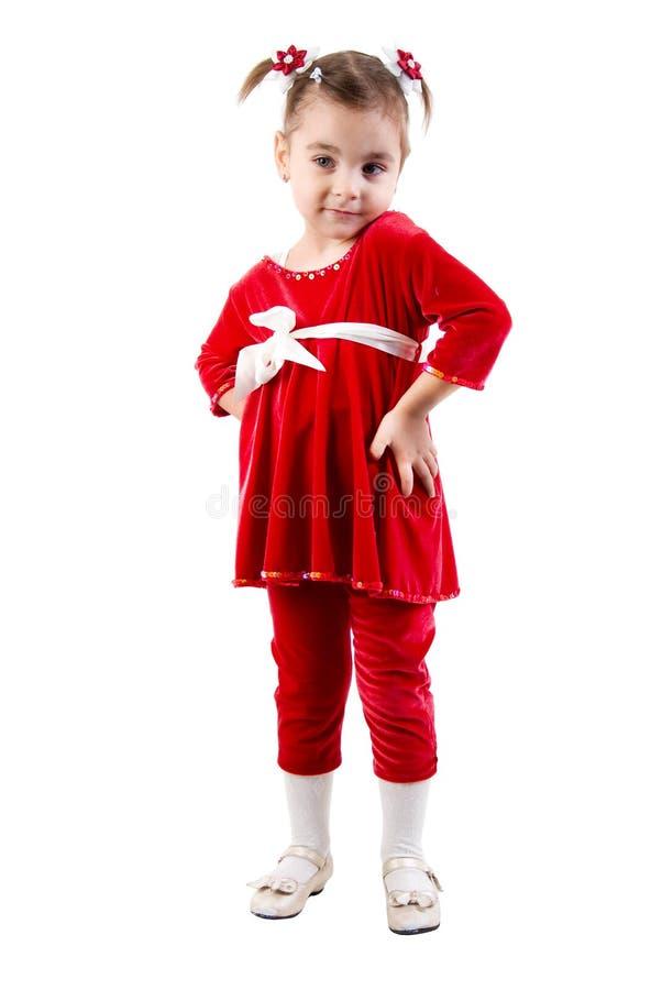 smokingowej dziewczyny mała czerwień zdjęcia stock