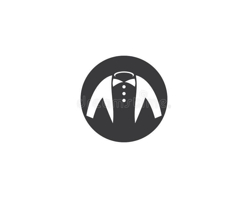 Smokings-Logoschablone stock abbildung