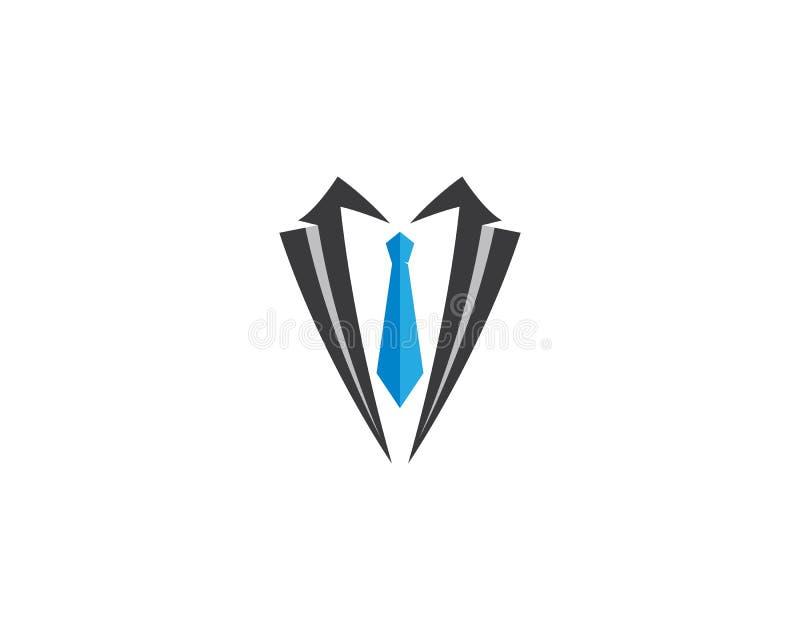 Smokings-Logoschablone vektor abbildung