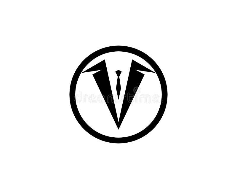 Smokings-Logoschablonenvektorikonenillustrations-Entwurf Vektor lizenzfreie abbildung