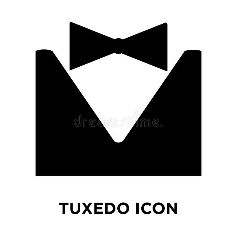 Smokingsymbolsvektor som isoleras på vit bakgrund, logobegrepp av royaltyfri illustrationer