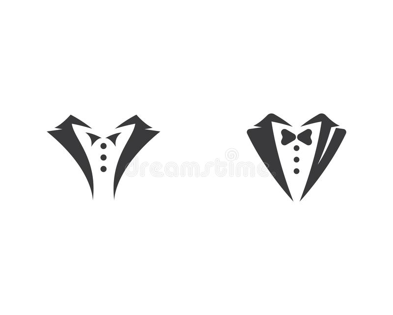 Smokingu loga szablon royalty ilustracja