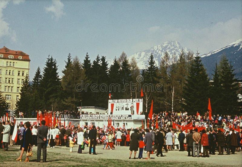 Smokovec, Eslováquia, Tatra Montanha, 1975, Comunists imagem de stock royalty free