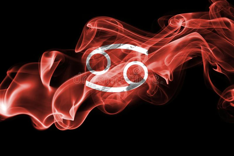 Smoky Cancer zodiac astrology sign for horoscope stock photography