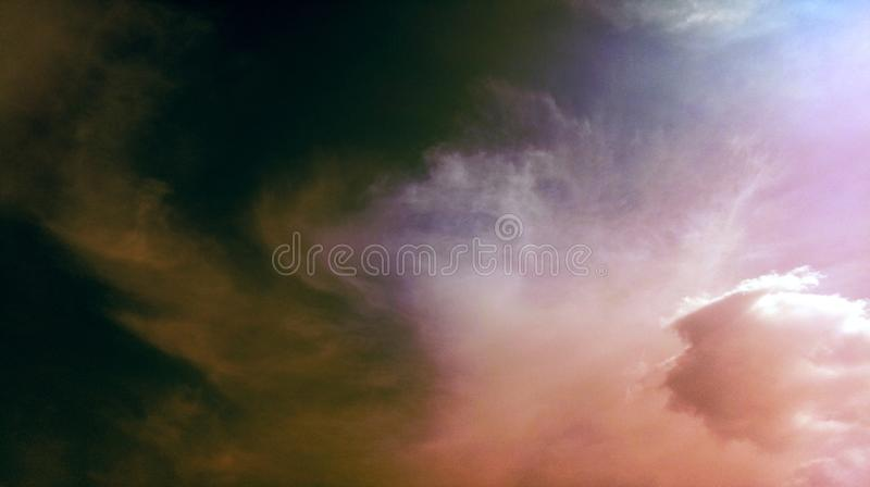 Smoky clouds colorful mixture effects texture background wallpaper. royalty free stock images