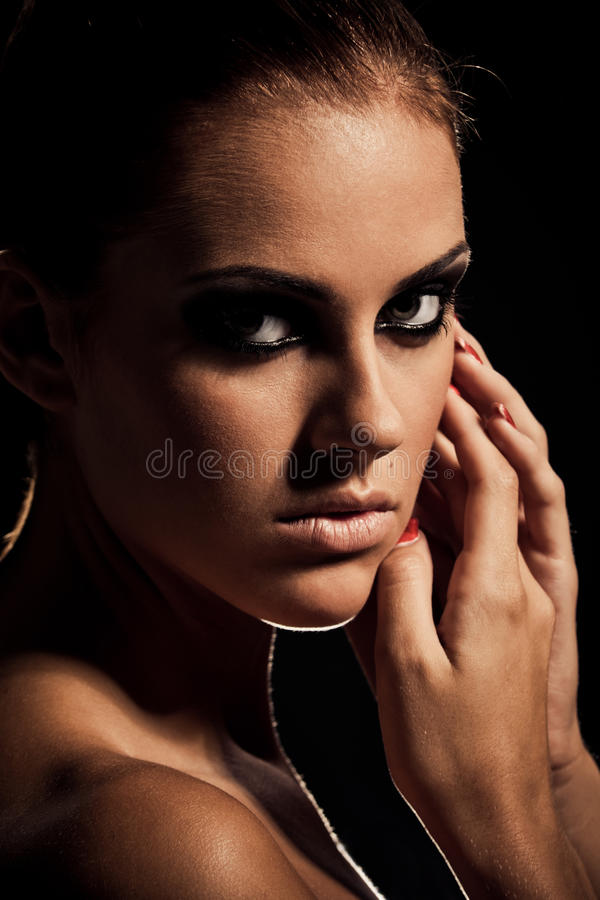 Smoky eye stock image