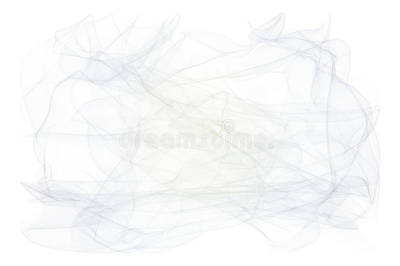 Smoky line art illustrations background abstract, artistic texture. Effect, generative, curve & creative. royalty free illustration