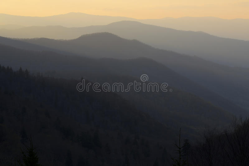 Smoky Mountain Sunrise. Smoky Mountain National Park landscape view royalty free stock photography
