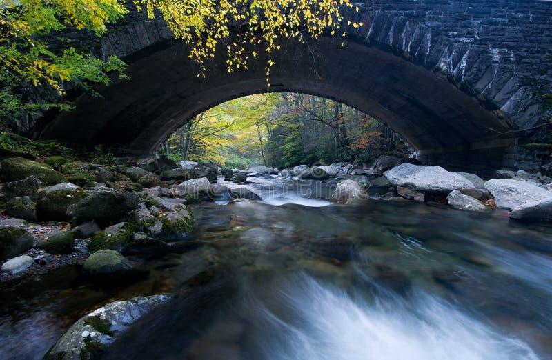Smoky Mountains bridge. Old stone bridge over river in the Great Smoky Mountains royalty free stock photos