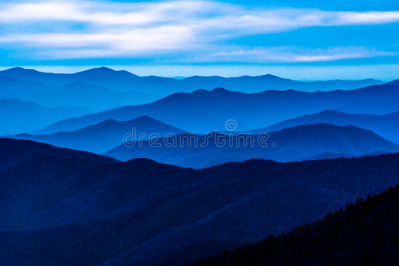 Great Smoky Mountain National Park. Sunset Clingmans Dome stock photography