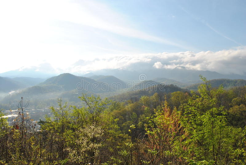 Smoky Mountains (in the clouds) stock image