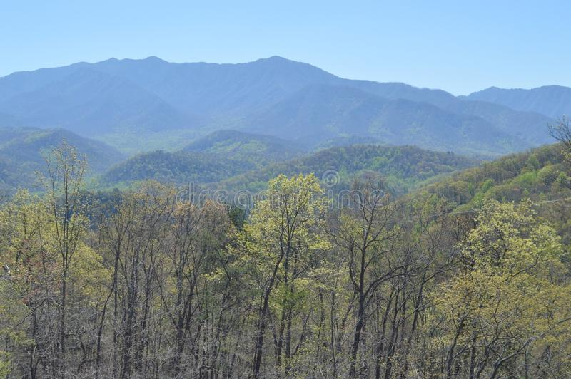 Smoky Mountains in Gatlinburg, Tennessee stock images