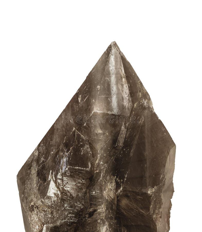 The smoky quartz, on white royalty free stock photo