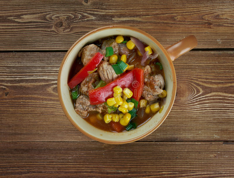 Smoky South of The Border Soup stock photography