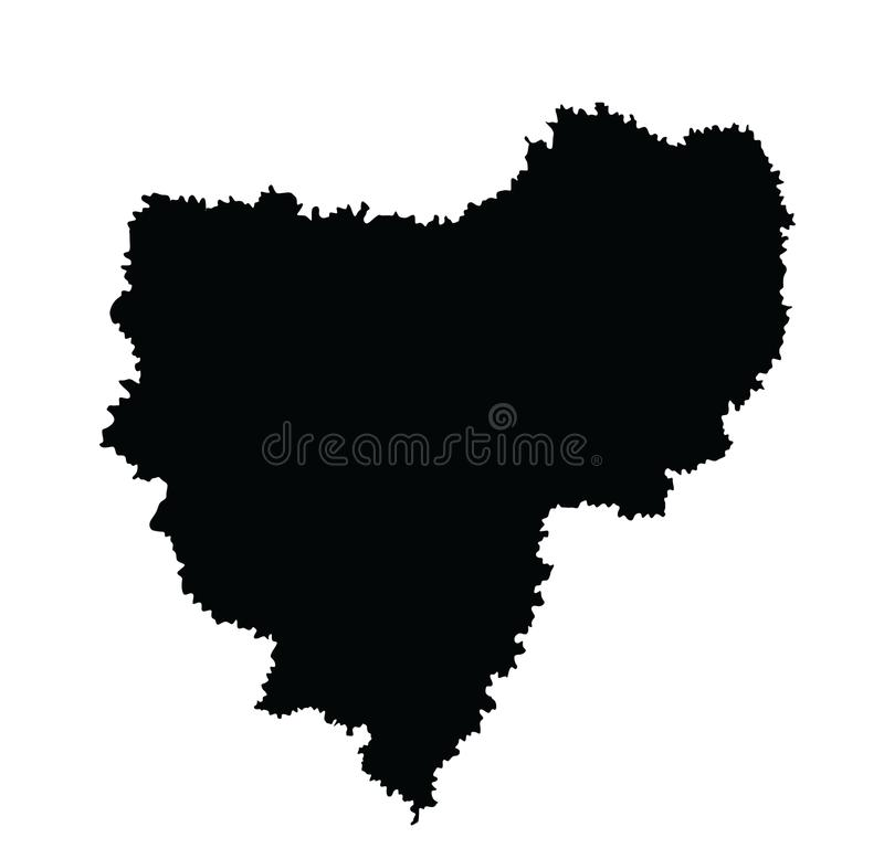 Smolensk oblast, kaart De kaart van Smolenskaya oblast Rusland royalty-vrije illustratie