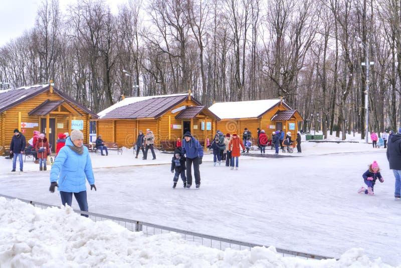 smolensk Pista de gelo da cidade imagens de stock