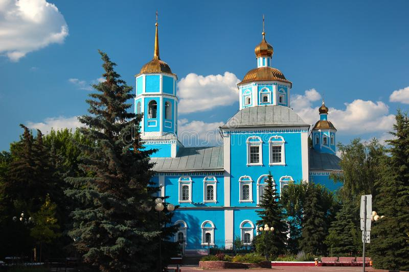 Smolensky Cathedral in Belgorod, Russia.  royalty free stock photos