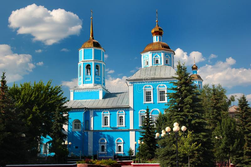 Smolensky Cathedral in Belgorod, Russia.  stock images