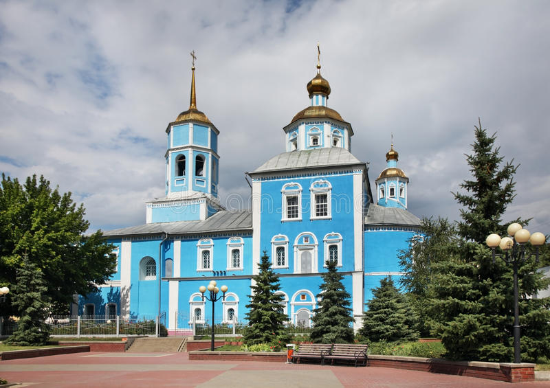 Smolensky Cathedral in Belgorod. Russia.  stock photography