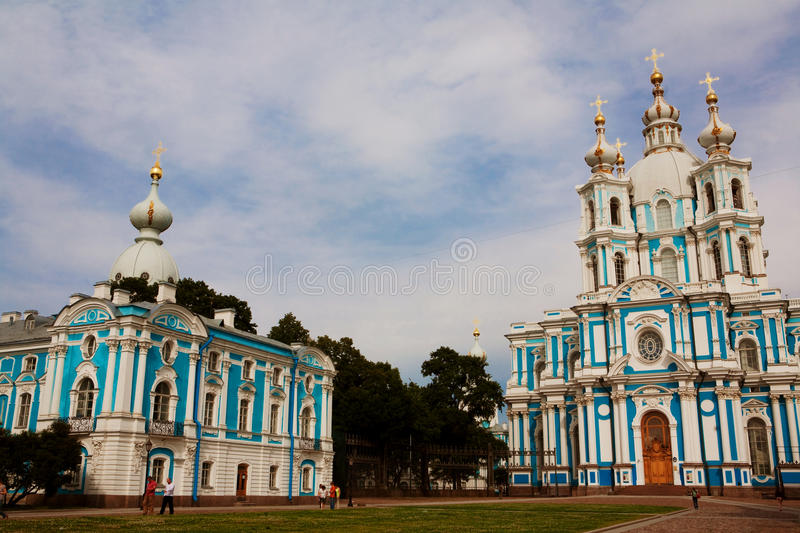 Download Smolny Cathedral stock photo. Image of europe, exterior - 17268350